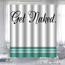 CafePress Get Naked White Shower Curtain Standard