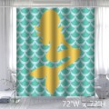 Design New Style The mermaid Fish Scales Polyester Bathroom Shower Curtain